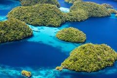 Palau eilanden van hierboven Royalty-vrije Stock Foto's