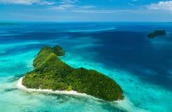Palau eilanden van hierboven Royalty-vrije Stock Afbeelding