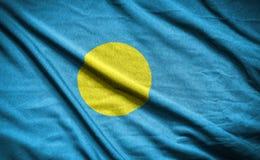 Palau flag.flag on background Royalty Free Stock Photos
