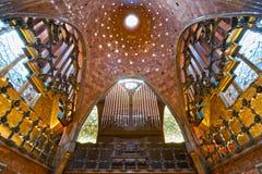 Palau Guell, Barcelona, Spanien. stockbilder