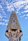 Palau Guell - lampglas Arkivfoton