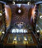 Palau Guell pałac spektakularny wnętrze, Barcelona zdjęcia stock