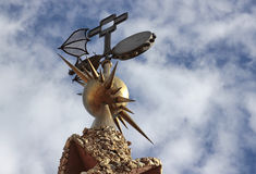 Palau Guell - segnavento del ferro Fotografia Stock
