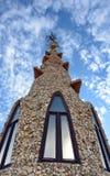 Palau Guell - tetto Fotografia Stock Libera da Diritti