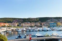 Palau harbour, Sardinia. Royalty Free Stock Photography