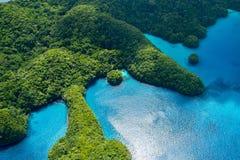 Palau-Inseln von oben Lizenzfreies Stockfoto