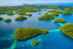 Palau-Inseln von oben Lizenzfreie Stockfotos