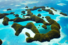 Palau islands from above. Beautiful view of 70 islands in Palau from above Stock Images