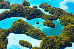 Palau islands from above Royalty Free Stock Image