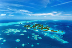 Palau islands from above. Beautiful view of 70 islands in Palau from above Royalty Free Stock Images