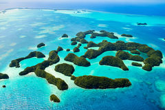 Palau islands from above Stock Photography
