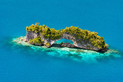 Palau islands from above. Beautiful view of The Arch landmark in Palau from above Stock Photos