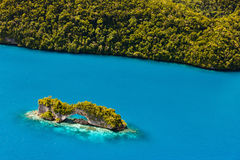 Palau islands from above. Beautiful view of The Arch landmark in Palau from above Royalty Free Stock Image