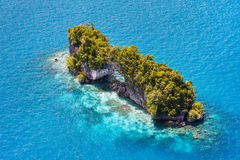 Palau islands from above. Beautiful view of The Arch landmark in Palau from above Stock Photo
