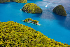 Palau islands from above. Beautiful view of The Arch landmark in Palau from above Royalty Free Stock Photos