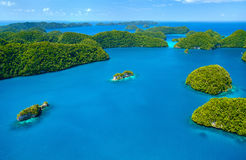 Palau islands from above. Beautiful view of The Arch landmark in Palau from above Stock Images