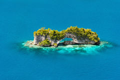 Palau islands from above. Beautiful view of The Arch nature landmark in Palau from above Stock Photography