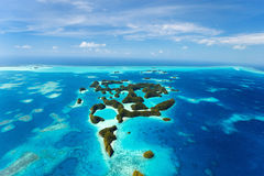 Palau islands from above Royalty Free Stock Photo