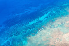 Palau islands from above. Beautiful view of Quirimbas archipilago in Mozambique from above Royalty Free Stock Photos
