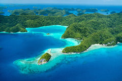Palau islands from above Royalty Free Stock Photography