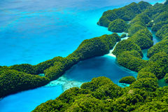 Palau islands from above Royalty Free Stock Images