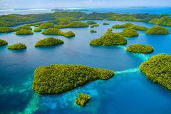 Palau islands from above Royalty Free Stock Photos