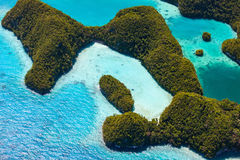 Palau islands from above Stock Image
