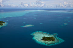 Palau Islands Bird eye view Royalty Free Stock Photos