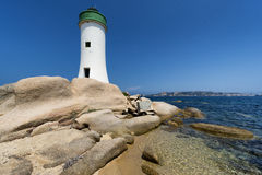 Palau Lighthouse in Sardinia, Italy Royalty Free Stock Photo