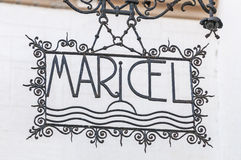 Palau Maricel sign in Sitges Spain Stock Photography