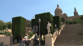 Palau Nacional, Barcellona, Spagna stock footage