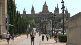 Palau Nacional, Barcellona, Spagna, stock footage