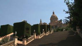 Palau Nacional, Barcellona, Spagna video d archivio