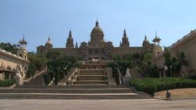 Palau Nacional, Barcelona, Espanha video estoque