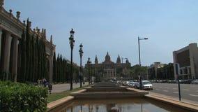 Palau Nacional, Barcelona, Espanha, video estoque