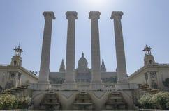 The Palau Nacional of Barcelona Stock Photos