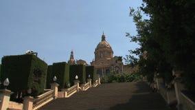 Palau Nacional,Barcelona,Spain stock video