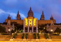 Palau Nacional de Montjuic a Barcellona, Spagna Fotografia Stock Libera da Diritti
