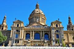 Palau Nacional de Montjuic in Barcelona, Spain Stock Images