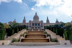 Palau Nacional. National Art Museum of Catalonia. royalty free stock photo