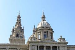 Palau Nacional van Barcelona Stock Afbeelding