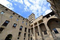 Palau Reial Majoor, de Oude Stad van Barcelona, Spanje Stock Fotografie