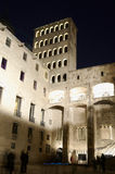 Palau Reial Major at night Royalty Free Stock Photography