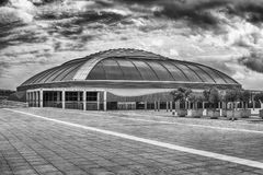 Palau Sant Jordi, sporting arena of Montjuic, Barcelona, Catalon. BARCELONA - AUGUST 11: Palau Sant Jordi (English: St. George's Palace) is an Royalty Free Stock Photography