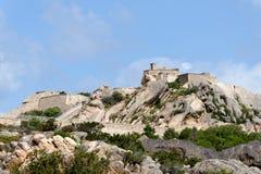 PALAU, SARDINIA/ITALY - MAJ 21: Fortezza Di Monte Altura blisko P Obraz Stock