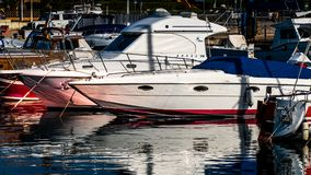 PALAU SARDINIA/ITALY - MAJ 17: Marina på Palau i Sardinia på Arkivbild