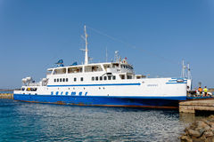 PALAU, SARDINIA/ITALY - MAY 17 : Arbatax car ferry in dock at Pa Royalty Free Stock Image
