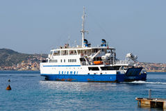 PALAU, SARDINIA/ITALY - MAY 17 : Arbatax car ferry leaving Palau Stock Photography