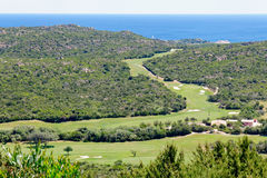PALAU, SARDINIA/ITALY - MAY 19 : Pevero Golf Club near Cala di V Royalty Free Stock Photos