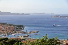 PALAU, SARDINIA/ITALY - MAY 20 : View down to Palau in Sardinia Stock Photography